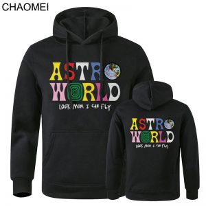 2020 New Astroworld Casual Black Pullover Hoodies