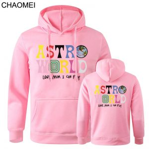2020 New Astroworld Casual Pink Pullover Hoodies