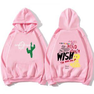 Astroworld Cactus Graffiti Men's Pink Pullover Hoodie