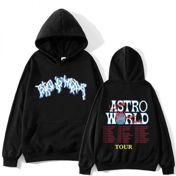 Astroworld Fashion Tour Black Pullover Hoodie