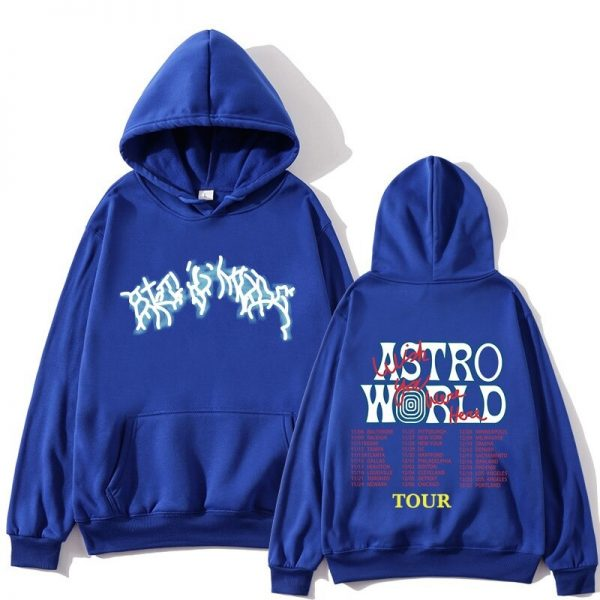 Astroworld Fashion Tour Blue Pullover Hoodie