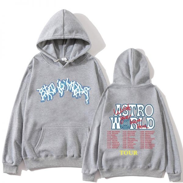 Astroworld Fashion Tour Gray Pullover Hoodie