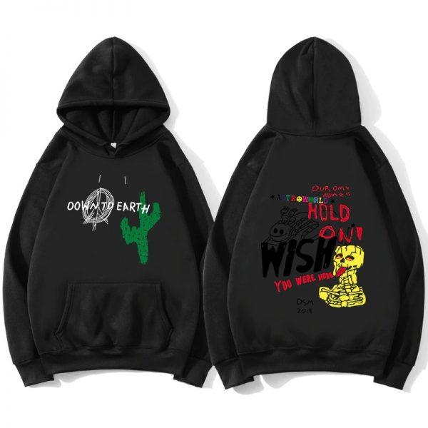 High Quality Astroworld Cactus Graffiti Black Hoodie
