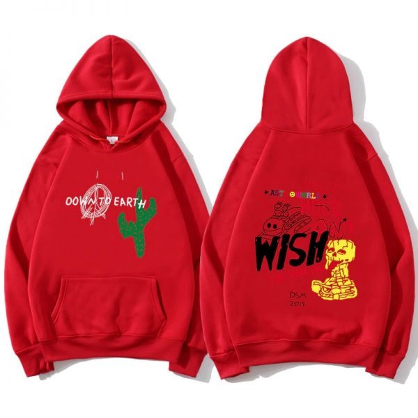 High Quality Astroworld Cactus Graffiti Red Hoodie