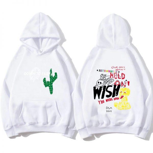 High Quality Astroworld Cactus Graffiti White Hoodie