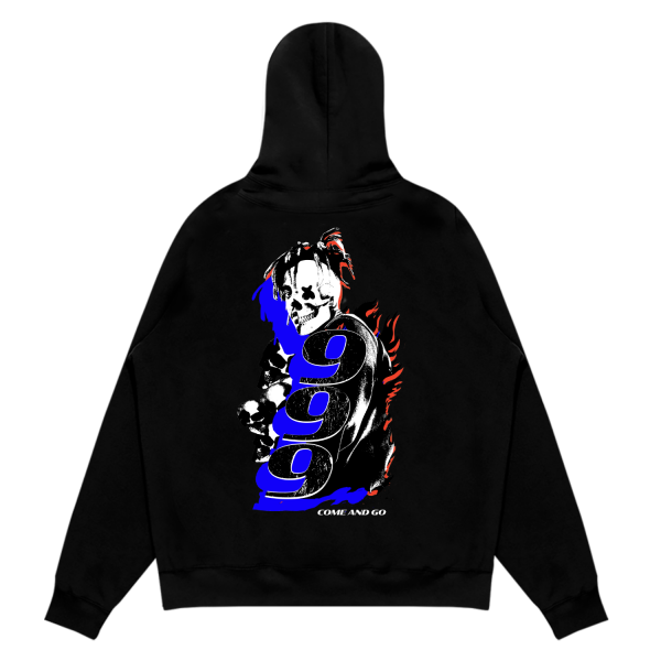 Juice WRLD X Mello Come And Go Black Hoodie (Back)