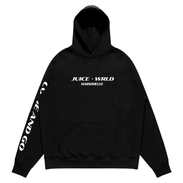 Juice WRLD X Mello Come And Go Black Hoodie (Front)