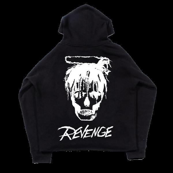 Juice WRLD X Revenge Legends Never Die Black Casual Hoodie (Back)