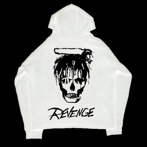 Juice WRLD X Revenge Legends Never Die White Casual Hoodie(Back)