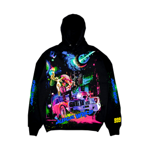 Juice WRLD X VLONE Cosmic Black Pullover Hoodie (Front)