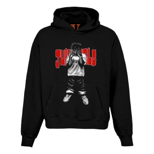 Juice WRLD X VLONE Man of the Year Black Hoodie (Front)