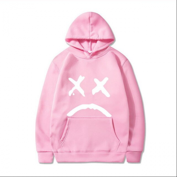 Lilpeep Outerwear Pink Hoodie For Men 1