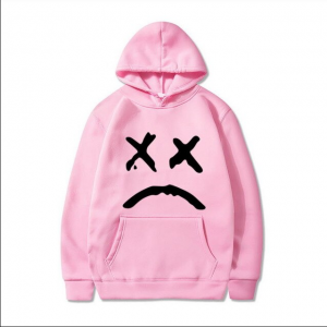 Lilpeep Outerwear Pink Hoodie For Men 2