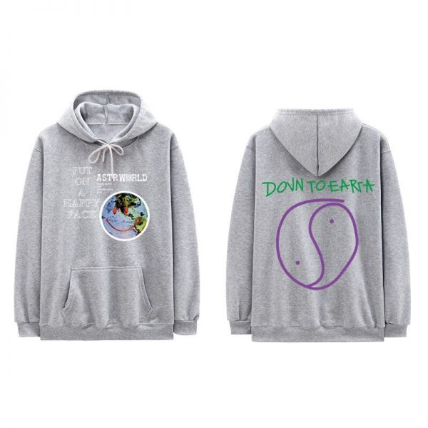 Lollapalooza Astroworld Gray Pullover Hoodie
