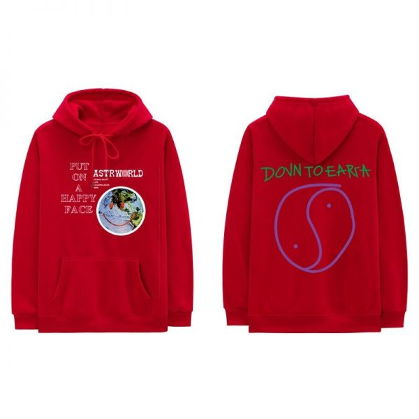 Lollapalooza Astroworld Red Pullover Hoodie