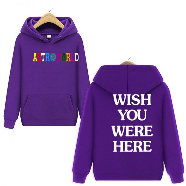 Astroworld Wish You Were Here Pullover Purple Hoodie