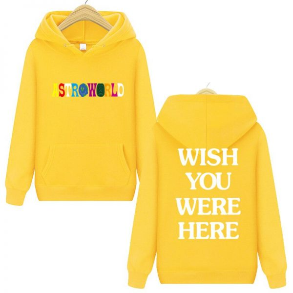 Astroworld Wish You Were Here Pullover Yellow Hoodie