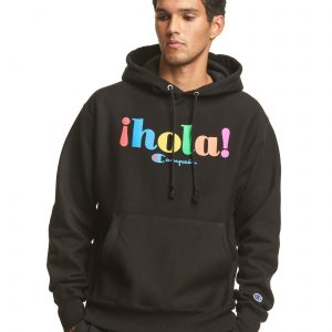 ¡Hola! Champions Casual Black Heritage Hoodie (Front)