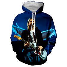 3D Printed Nirvana Kurt Coburn Guitar Sweatshirts Men Hoodies