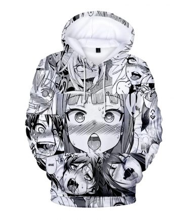 3D Printed White Unisex Casual Hoodie (Front)