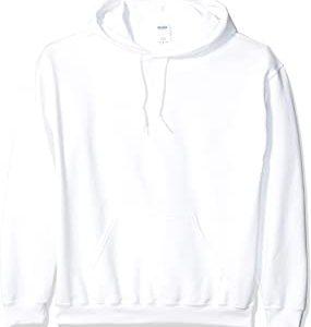 Gildan Men's Heavy Blend Fleece White Hooded