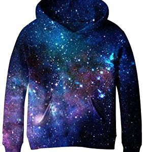 SAYM Teen Boys' Galaxy Fleece Sweatshirts Pocket Pullover Hoodies