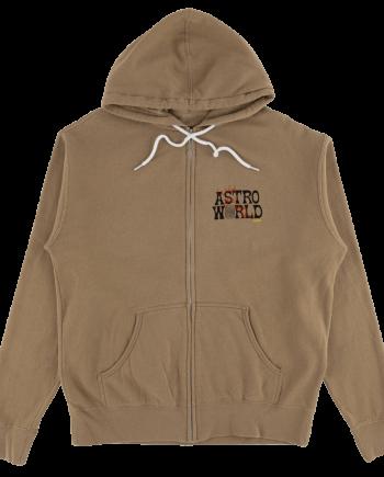 Astroworld Tour Zip Up Hoodie - Brown