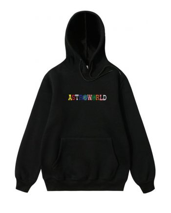 Embroidered Astroworld Causal Hoodie