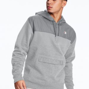 C Logo Urban Fleece Casual Champion Gray Hoodie (Front)