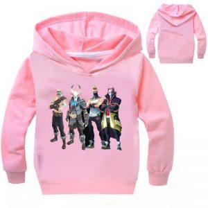 New Arrival Dabbing Kids Boys Pink Hoodie
