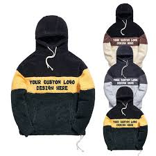 Custom design New model mens sherpa fleece hoodies
