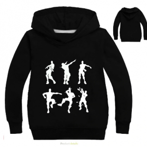 Dabbing Hoodie in Black for Kids boys puppet
