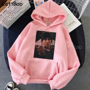 Eminem Hoodies Women Men Unisex Pink Clothing Hip Hop Rap Punk Style Tops