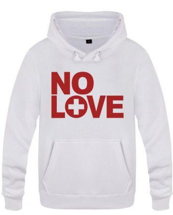 Eminem No Love Rock Rap Fleece Pullover White Hoodie