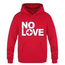 Eminem No Love Rock Rap Fleece Pullover Red Hoodie