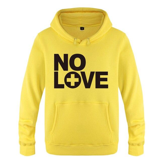 Eminem No Love Rock Rap Fleece Pullover Yellow Hoodie
