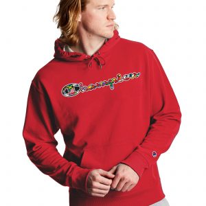 Flags Of The World Powerblend Red Fleece Hoodie (Front)