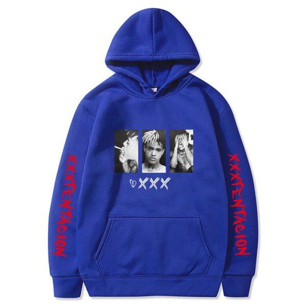 New XXXtentacion XXX Blue Hoodie