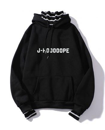 J Hooooope Bangtan Boys BTS Pullover Hoodie (Black)