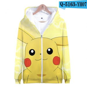 Pokemon Anime Zip-up Pullover 3D Hoodie