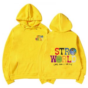 Astroworld Look Mom I Can Fly Yellow Hoodie