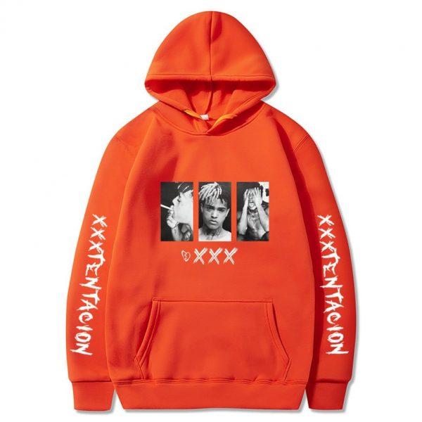 New XXXtentacion XXX orange Hoodie