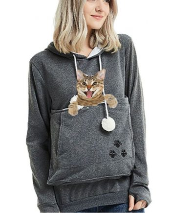 New Cat Pouch Lovers Casual Hoodie
