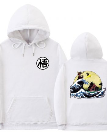 Multiple Dragon Ball White Hoodie