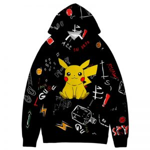 New 3D Pokemon Print Hoodie