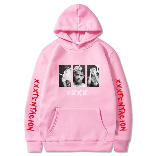 New XXXtentacion XXX Pink Hoodie