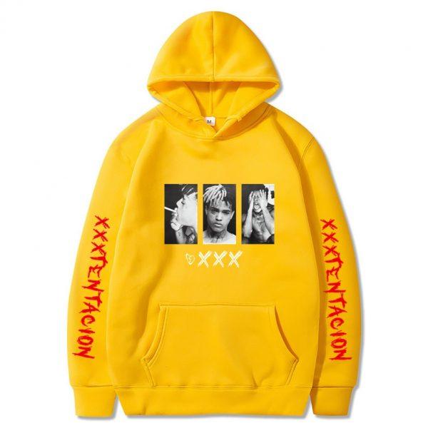 New XXXtentacion XXX Yellow Hoodie