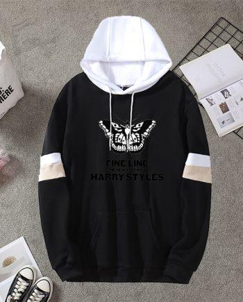 Harry Style Fleece Line Butterfly Hoodie