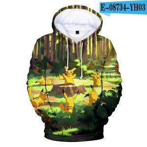 Pokemon 3D Printed Anime Hoodie For Men