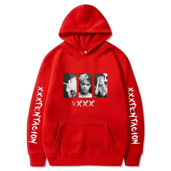 New XXXtentacion XXX Red Hoodie